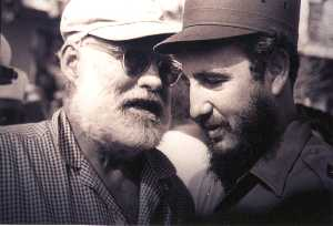 Castro and Hemingway. Courtesy of El Floridita.